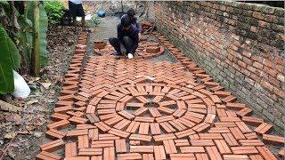 Creative Road Construction Skills Use Bricks And Mortar To Create Walkways - Bricklaying Is Art
