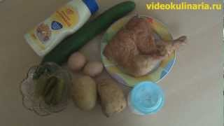 Рецепт-салат из копченой курицы от videokulinaria.ru