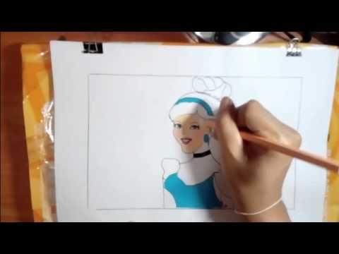 ซินเดอเรลล่า วาดภาพระบายสี