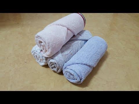 수건 접기 (호텔식 수건 접기) 수건 깔끔하게 접는 방법 생활꿀팁 수건 정리  Towel 手ぬぐい 毛巾 serviette  toalla Полотенце. ein Handtuch