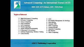 Advanced Computing: An International Journal (ACIJ)