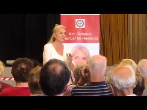 Redlands State MP Kim Richards speaks to Russell Island Residents    copy