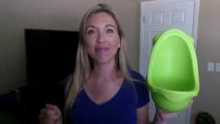 Review of JD kids toddler urinal potty training boys - how to train kids pee