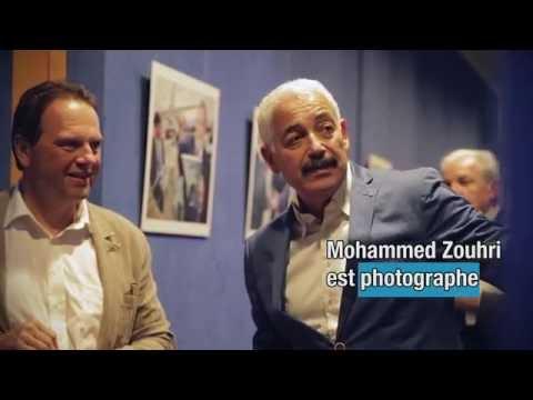 Exposition du photographe Zouhri au salon du Protocole de Genève Aéroport