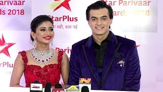 Naira And Kartik At Star Parivaar Awards 2018 | Shivangi Joshi And Mohsin Khan Interview