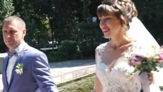 Видеосъемка свадьбы. Прогулка в ЗАГС. Воронеж. 6-08-2016 год