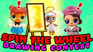 LOL Surprise Dolls Toy Story 4 Spin the Wheel Drawing Contest Pt 2! W/ Posh | LOL Dolls Families