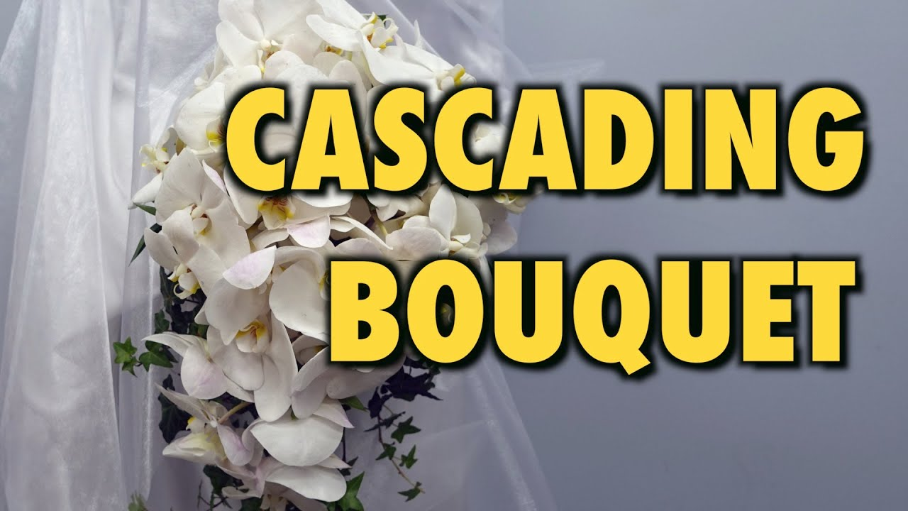 How to Make Cascading Bridal Bouquet with Phalaenopsis Orchids - YouTube