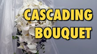 How to Make Cascading Bridal Bouquet with Phalaenopsis Orchids