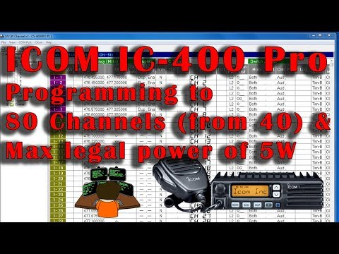 UHF CB - Icom IC-400 Pro Programming 80 CH & Max Legal Power