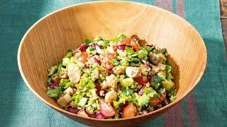 焼ききのことキヌアのチョップドサラダ