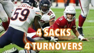 Chicago Bears Defense Highlights vs Cardinals (4 SACKS, 4 TURNOVERS!!!)
