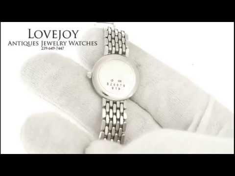 Chopard 18k Solid White Gold Ladies Watch Diamond Bezel Authentic