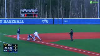 Trinity Baseball v. Colby Highlights ~ 4/13/18