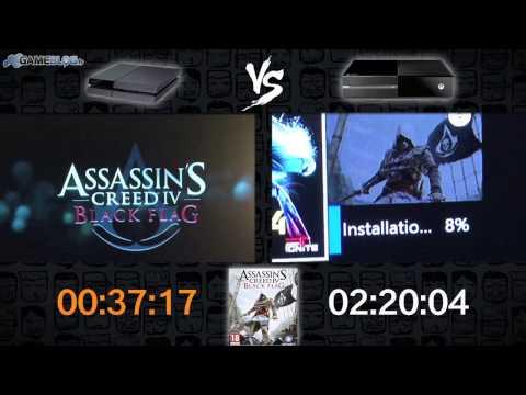 Installation des jeux sur PS4 vs Xbox One : ACIV