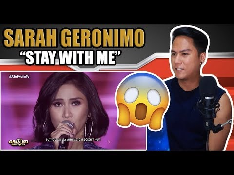 Sarah Geronimo - Stay With Me  | REACTION