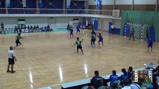 6日 ハンドボール女子 福島商業高校1コート 水海道二vs神戸星城 2回戦