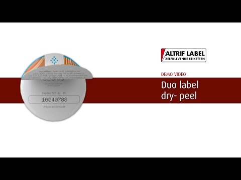 Duo dry-peel etiket | Altrif Label