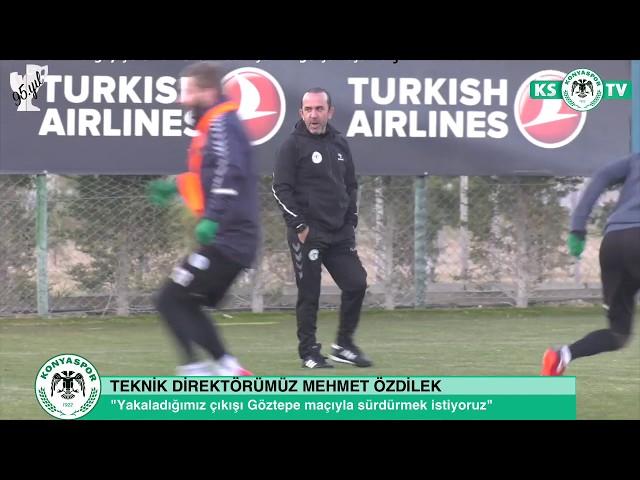 Teknik Direktörümüz Mehmet Özdilek Göztepe ve Trabzonspor maçlarını değerlendirdi
