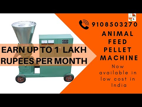 Cattle feed business-How To Start and earn upto Rs.100000/- per month Animal feed pellet: 9423368301