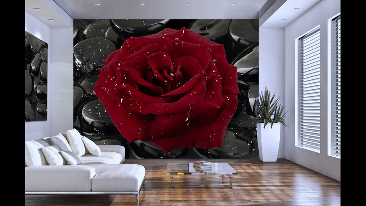 3D фото обои для стен - YouTube