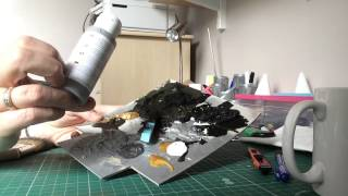 Tutorial on Diorama dry brushing - Concrete and stone