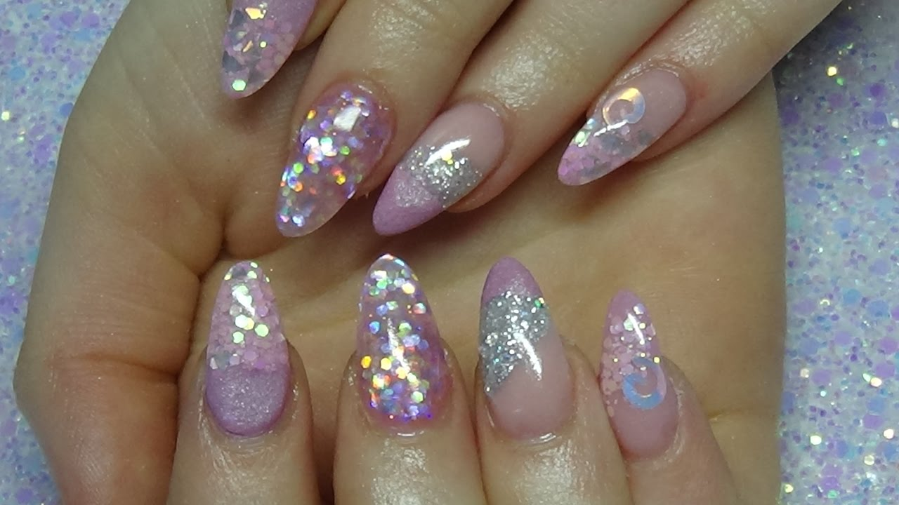 Pretty Pink Princess Acrylic Nails Using Cjp Products