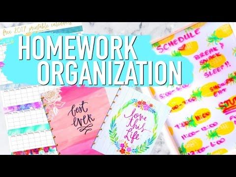 HOMEWORK ORGANIZATION HACKS | Get ORGANIZED Paris & Roxy