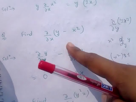 How to do PARTIAL DIFFERENTIATION (Hindi)