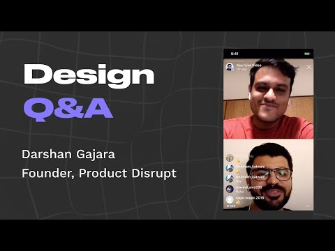 Design Q&A with Darshan Gajara, design consultant and founder of Product Disrupt