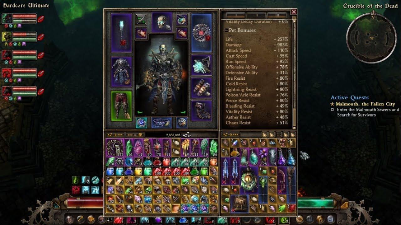 Grim Dawn v1 0 4 0 - My Cabalist Pet Build VS Lokarr