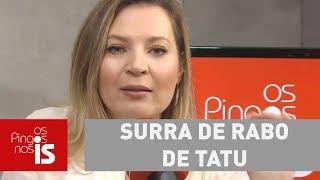 """Joice: Em SC, Bolsonaro dá """"surra de rabo de tatu"""" em Lula"""