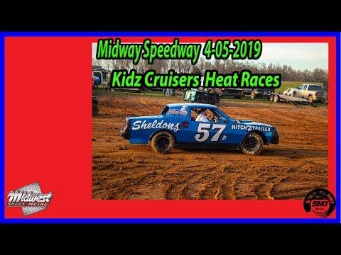 S03 E155 Kidz Cruisers  Heat Races - 4-06-2019 Opening Night Midway Speedway #DIRTTRACKRACING