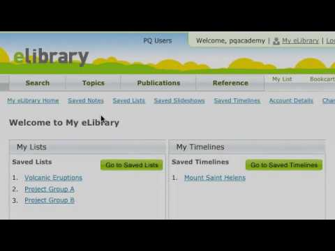 eLibrary: Instructional Support