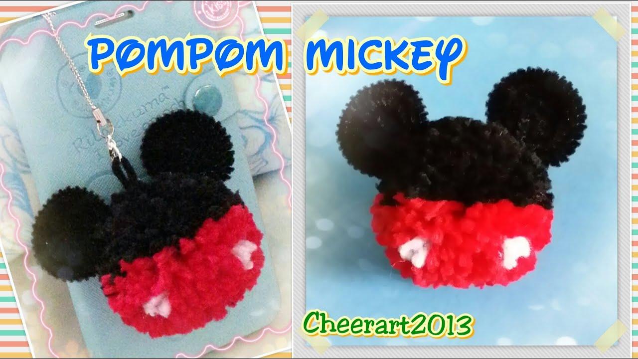Pompom Mickey Tutorial 毛絨球米奇教學 Youtube