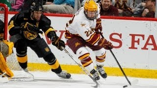 Highlights: Gopher Hockey Defeats Lethbridge in Exhibition 5-1