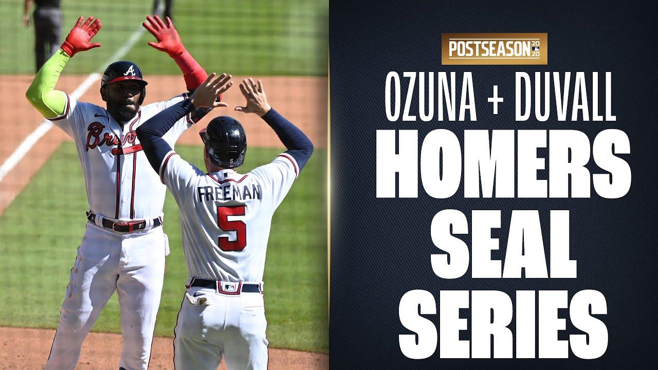 Marcell Ozuna + Adam Duvall CRUSH home runs to put Braves WAY up on Reds! | MLB Highlights
