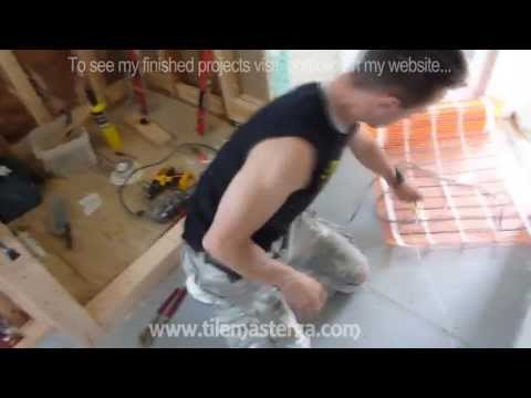 Radiant Heated bathroom floor installation - How to do it from A to Z Atlanta GA