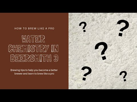 How To Brew Like A Pro! - Water Chemistry In Beersmith