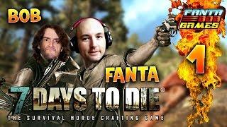 7Days To Die - Ep.1 : Le Chalet - Fanta et Bob COOP Let's Play Survie Zombie