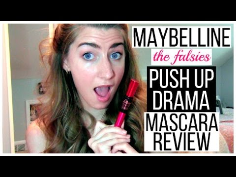 new maybelline push up drama mascara review youtube. Black Bedroom Furniture Sets. Home Design Ideas