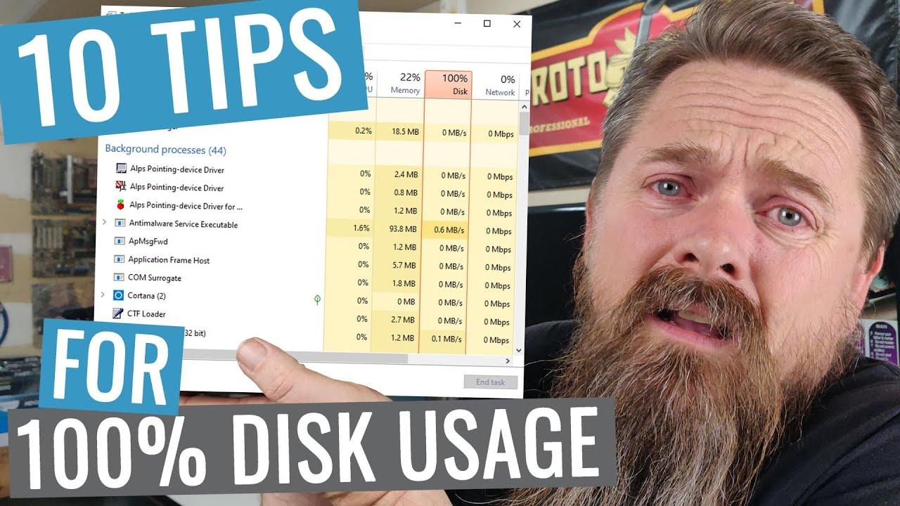 100% Disk Usage 10 Tips for Windows 10
