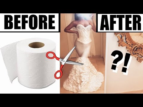 MAKING A WEDDING DRESS OUT OF TOILET PAPER!