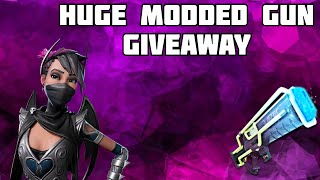 Huge Modded Gun Giveaway-Fortnite Save The World ( ROAD TO 2000 subs)