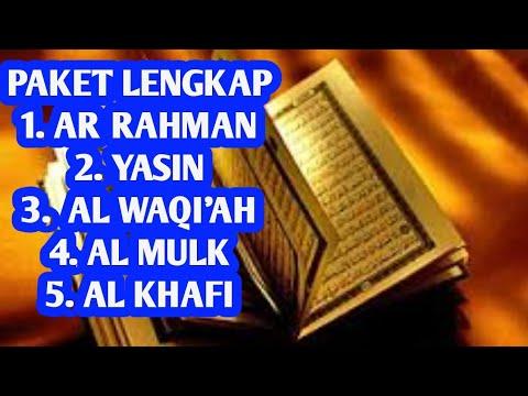 Surah Ar Rahman,Surah Yasin,Surah Al Waqi'ah,Surah Al Mulk & Surah Al Kahfi