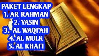 Gambar cover Surah Ar Rahman,Surah Yasin,Surah Al Waqi'ah,Surah Al Mulk & Surah Al Kahfi