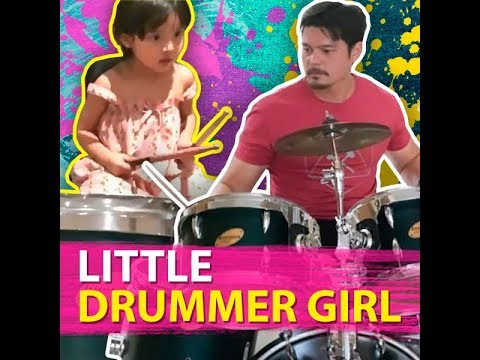 Little drummer girl - KAMI - Dingdong Dantes and Marian Rivera's daughter is just 4 years old - 동영상