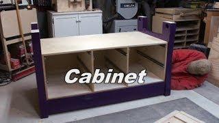Purple Pocket Hole Workbench - Pt 3 - Cabinet