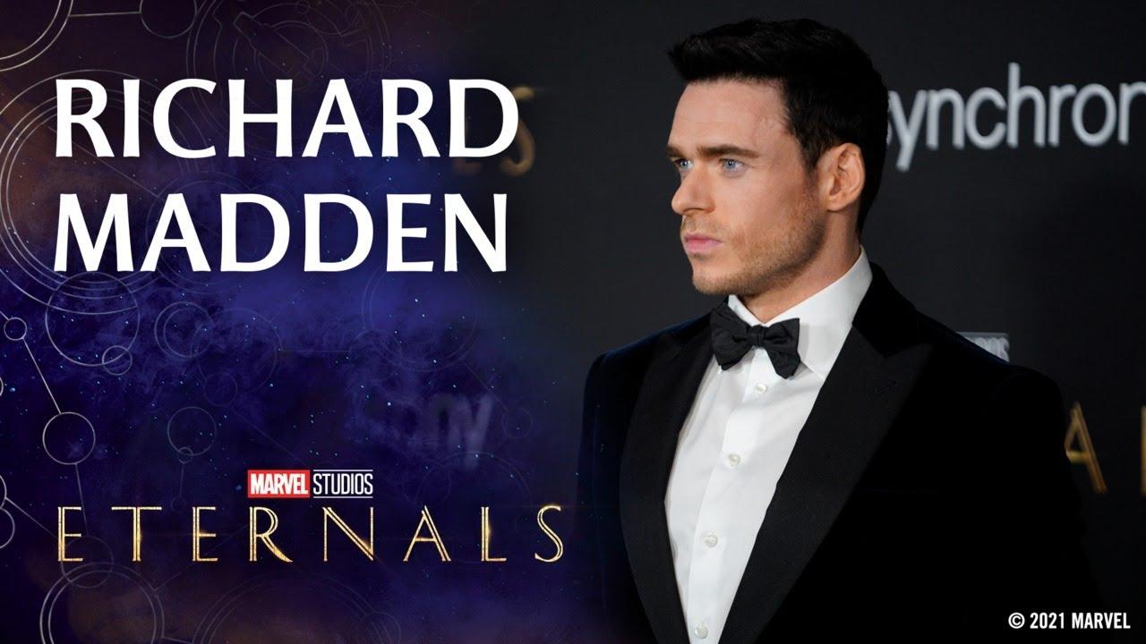 Richard Madden on Practicing His Laser Vision   Marvel Studios' Eternals Red Carpet