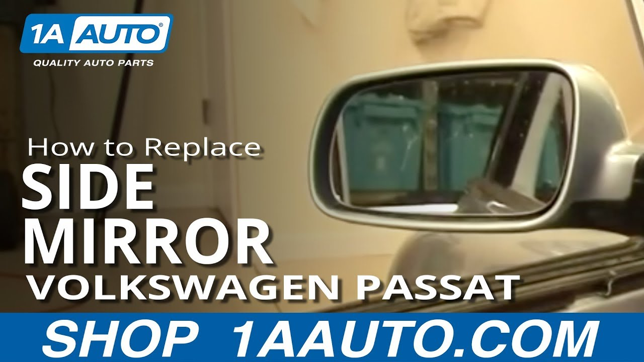 How To Install Replace Side Rear View Mirror Volkswagen